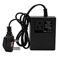 Festnight Intelligent Efficient Household 200W AC 220V Step Down Transformer Voltage Converter Travel Power Adapter