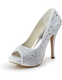 Chaussure de mariée strass blanc