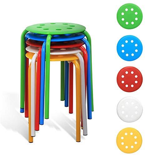 Yaheetech 10 Stück Stapelhocker Hocker stapelbar Sitzhocker Küchenhocker für Küche Wohnzimmer -