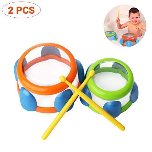 Egosy Badespielzeug Wasser Instrument Trommeln Kinder Musik Aufklärung Wasser Musikinstrument Badezimmer Lernspielzeug Wasser Trommeln Percussion Spielzeug