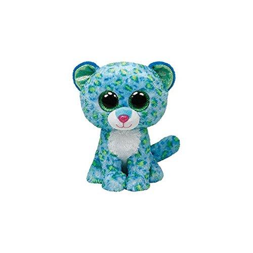"Beanie Boo Leopard - Leona - Green/Blue - 15cm 6"""