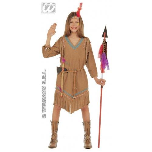 Kostüm Indien Ideen Party - Widmann WIDMAN-Indianer-Kostüm des Westen für Mädchen, Gr. 10(42927)
