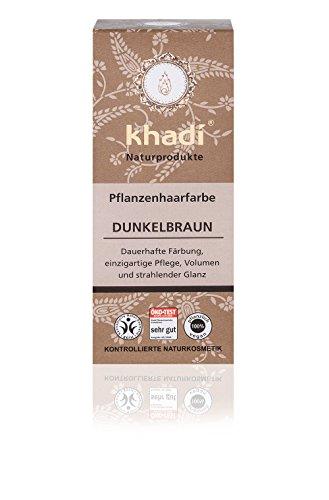 khadi Naturprodukte, Pflanzenhaarfarbe Dunkelbraun (1 x 100g) Test