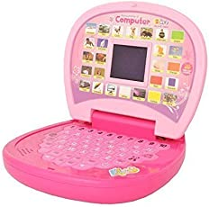 Amitasha Kids Musical Learning Laptop with LED Display | ABCD Alphabets and 1234