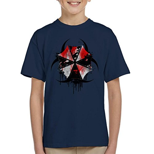 Resident Evil Umbrella Corp Blood Splatter Kid's T-Shirt