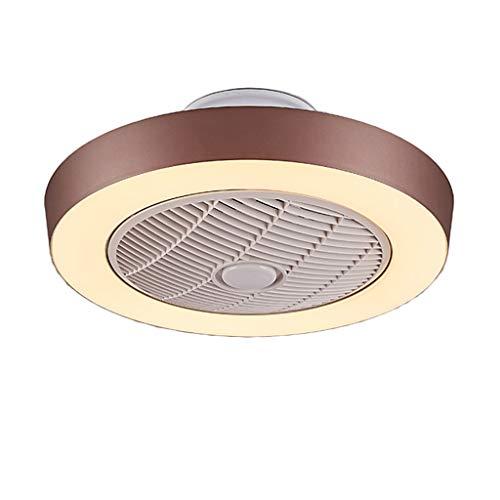 Fan deckenleuchte schlafzimmer led deckenleuchte wohnzimmer esszimmer lampe durchmesser 55 cm * H22 cm (Color : Brown-Diameter 55cm*H22cm)