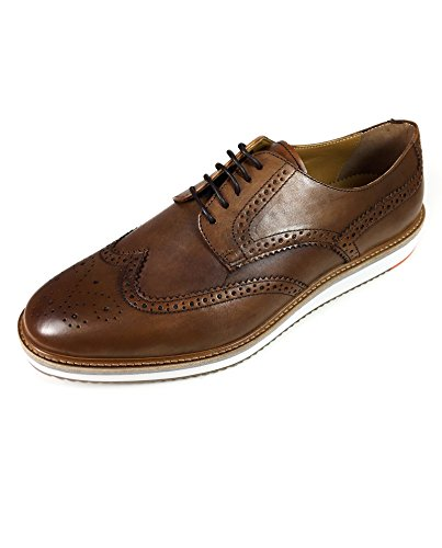 Zara Men's Brown leather shoes with thick sole 5030/202 (43 EU |...