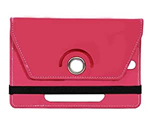 Pink Stylabs Tablet Book Flip Case Cover For Micromax Funbook Duo P310(Universal)