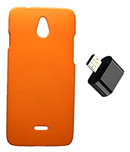 Toppings Hard Case Cover With Micro USB OTG Adapter For Infocus M2 - Orange