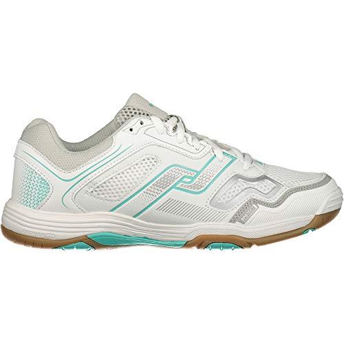 Pro Touch Damen Rebel Multisport Indoor Schuhe, Weiß (White/Grey/Turquoise 901), 37 EU