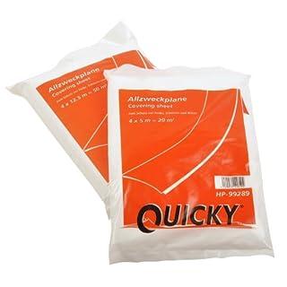 Quicky HDPE Allzweckplane, 4 x 5 m / 20 Quadratmeter, transparent, 20er Pack (20 x 1 Stück)