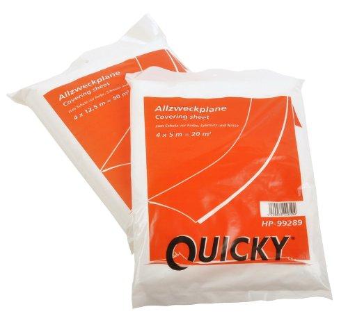 Quicky HDPE Allzweckplane, 4 x 5 m/20 Quadratmeter, transparent, 20er Pack (20 x 1 Stück)