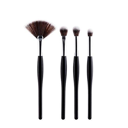ELENXS Nouveau GUJIHUI 4/8pcs Maquillage Pinceaux Femmes Filles Poudre Correcteur Fondation Make Up Fan Eyeshadow Outil Brosses Beauté 4pcs 20 * 9 * 0.8cm