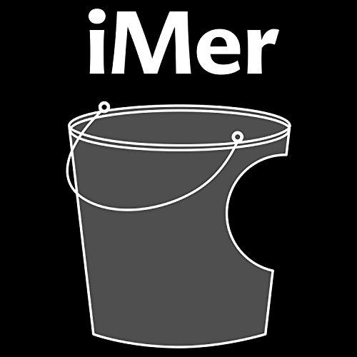 Fashionalarm Herren T-Shirt - iMer | Fun Shirt mit lustigem Fake Logo Motiv für PC Computer Nerds Büro Arbeit Beruf Job Schwarz