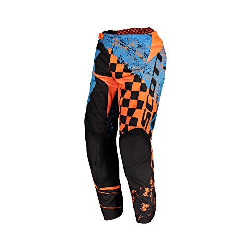 Scott 350 Track Kids Kinder MX Motocross / DH Fahrrad Hose schwarz/orange 2018: Größe: 24