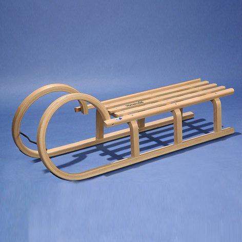 Rodelschlitten 'Hörner-Rodel', 100 cm, mit Holzbelattung