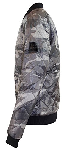 Mens légère armée matelassée Quilted MA1 Harrington Jacket Camo Bomber manteau Khaki Camo