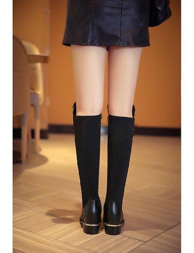 CU@EY Da donna-Stivaletti-Casual-Ballerine-Piatto-Di pelle-Nero black-us8 / eu39 / uk6 / cn39