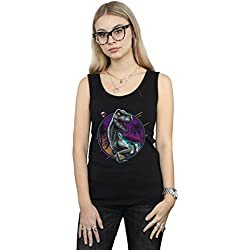 Vincent Trinidad Mujer RAD Velociraptor Camiseta Sin Mangas Negro Medium