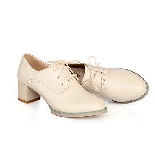 Adee Femme Casual PU Pompes Chaussures Blanc