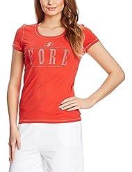 XFORE golf stretch T-Shirt manches courtes Strass Logo Daitona en rouge