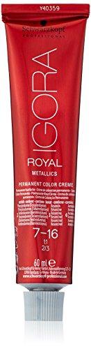 Schwarzkopf IGORA Royal Premium-Haarfarbe 7-16 mittelblond cendré schoko, 1er Pack (1 x 60 g)