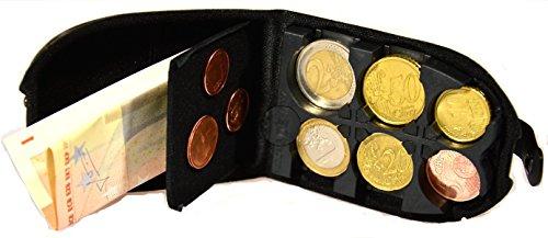 Eurocase, Portamonete, Made in Italy, Mod 204 ecopelle nero, Con pannello magnetico, Spedizione gratuita (Italia)