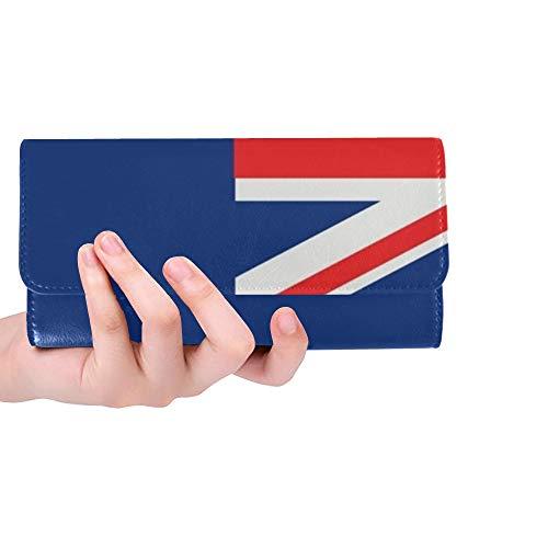 Einzigartige benutzerdefinierte Australien Flagge Frauen Trifold Brieftasche Lange Geldbörse Kreditkarteninhaber Fall Handtasche