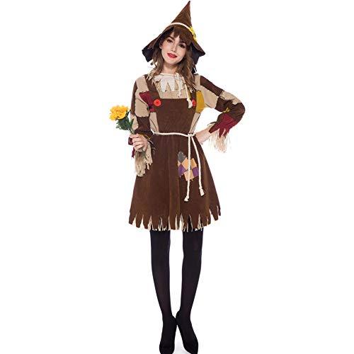 Vogelscheuche Hunde Kostüm - AIXIAOYU Halloween Kostüm Vogelscheuche Cosplay Kostüm Party Kostüm