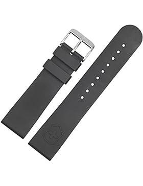 VICTORINOX Uhrenarmband 22mm Kunststoff schwarz matt, Struktur original - Ersatzband passend für Uhrenmodelle...