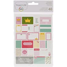 American Crafts Project Life Themed Cards, multicolore, 1.9 x 13.33 x 20.32 cm