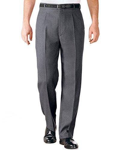 Hommes Formelle Laine Blend Pantalon Ceinture Réglable Gris