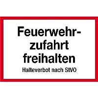 210x74mm Folie PERMALIGHT plus Feuerwehrschild Brandschutztür geschlossen..