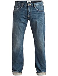 Quiksilver Sequel Medium Blue - Jean regular pour Homme EQYDP03315