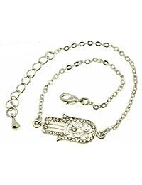 Hamsa Shamballa Friendship Bracelet Evil Eye Charm Kabbalah Hand Of Fatima Silver