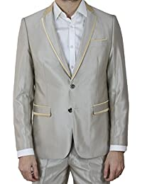 Kebello - Costume homme beige Satin Elim 7007