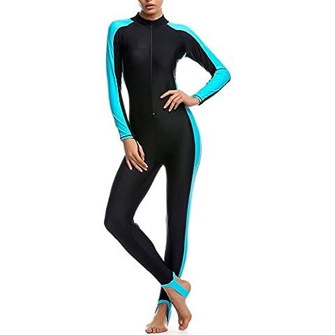 Minetom Costume Da Bagno Donna Vacanze Estive Costumi Protezione Solare Pieno Corpo Confortevole Swimwear Con Bra Pads