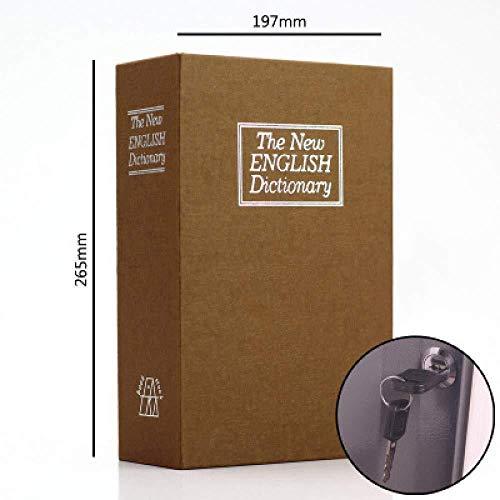 Book Collection Box Buch-Safe Mit Schlüssel Tragbarer Safe Verstecktes Sicheres Buch Mit 2 Schlüsseln Zur Aufbewahrung Von Geld Schmuck Waffe Und Reisepass,Yellow-Large
