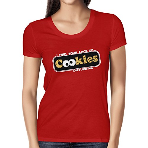Monster Kostüm Cookie Ideen (TEXLAB - Lack of Cookies - Damen T-Shirt, Größe M,)