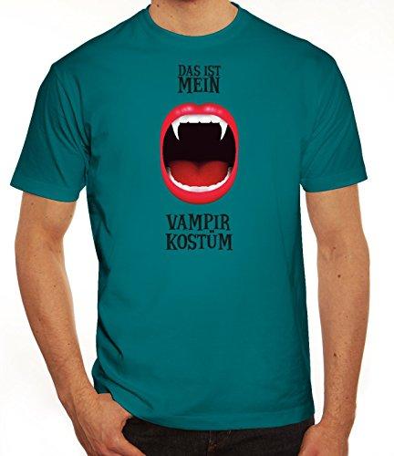Kostüm Dracula Diva - ShirtStreet Fasching Karneval Herren T-Shirt mit Das ist Mein Vampir Kostüm 1 Motiv, Größe: XXL,Diva