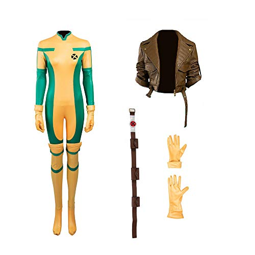 Glam Cos Men of X Comics - Rogue Female Cosplay Kostüm - Gelb - XXX-Large