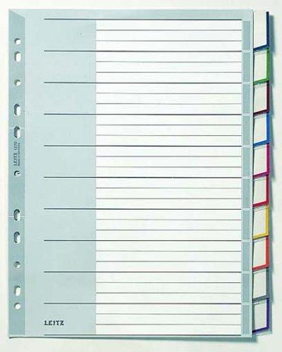LEITZ 1270 Kunststoff-Register, PP, Stärke: 0,12 mm 10-teilig (Kunststoff-register)