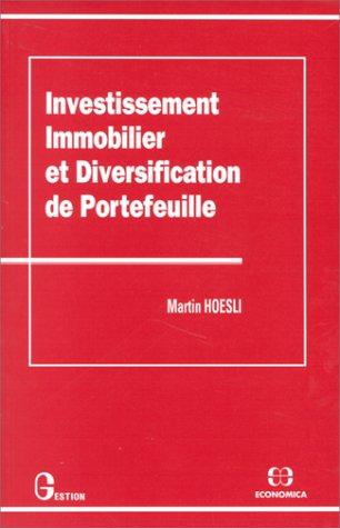 Investissement immobilier et diversification de portefeuille par Martin Hoesli