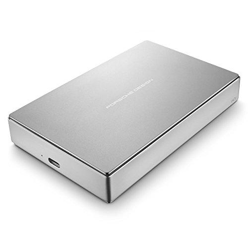 LaCie Porsche Design Mobile Drive 4 TB, externe tragbare Festplatte, 2.5 Zoll, USB 3.0, USB 3.1, USB-C, platin -  STFD4000400