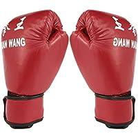 Sanzhileg Guantes de Boxeo para Adultos, Rojos y Negros Guantes Profesionales de Sacos de Arena Guantes de Kickboxing Pugilismo Hombres Mujeres Entrenamiento Herramienta de Lucha - Rojo