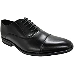 Scarpe uomo calzature eleganti cerimonia Classica Nero (43)