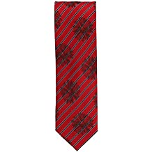 Silk classico cravatta seta rosso a righe e floreale 7
