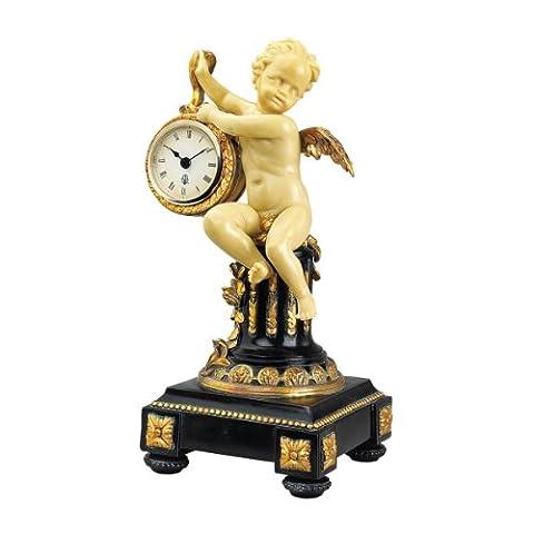 Design Toscano Chateau Colville Néoclassique Cherub Horloge de table