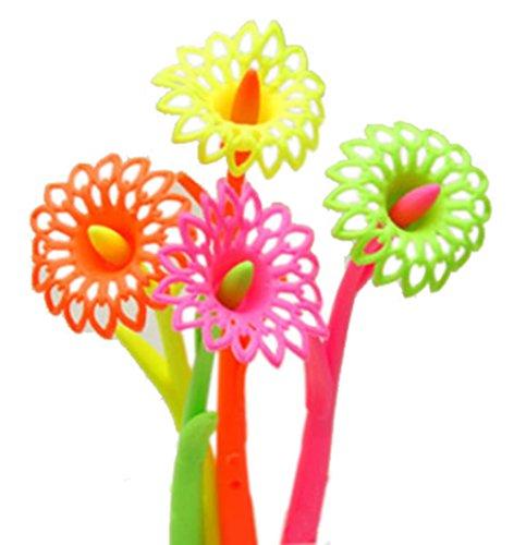Set von 12 hübsch Blume-Gel-Feder mit Fragrance (Farbe Random)