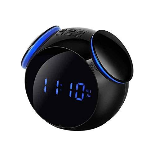 KY&Cl Wireless Bluetooth Lautsprecher Mini Digital Wecker Kreative Uhr Outdoor Square Dance MP3 Smart Lautsprecher Subwoofer,Black